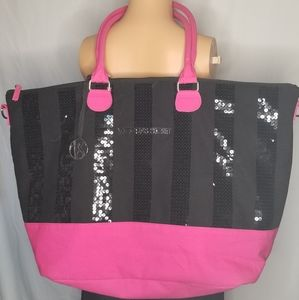 Victoria's Secret Pink/Black Sequined Weekender